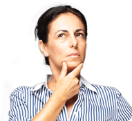 Moteris, susiėmusi už smakro, klausia apie Flavamed ir šlapią kosulį